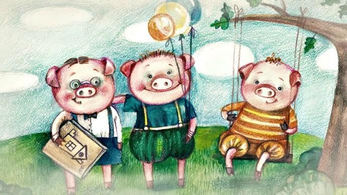 Бабушкины сказки - Три поросёнка | Мультфильмы для детей