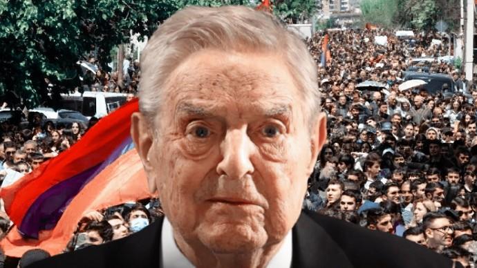 В Ереване протестующие разгромили офис Фонда открытого общества (фонд Сороса)