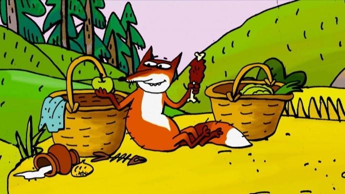 Лис и Дрозд Сказка для Детей - Мультики HD