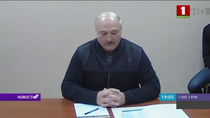 Опубликовано видео встречи Лукашенко с оппозиционерами в СИЗО
