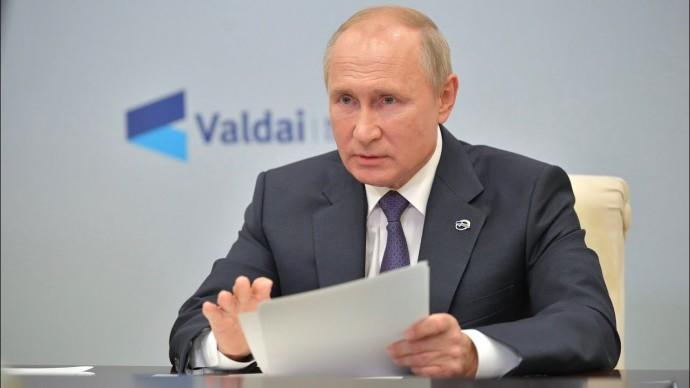 Путин пошутил о простуде на похоронах недоброжелателей России. Заседание клуба «Валдай»