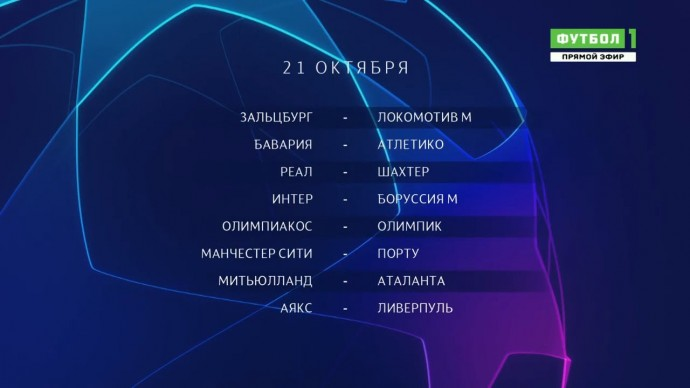 Лига чемпионов. Обзор матчей 21.10.2020