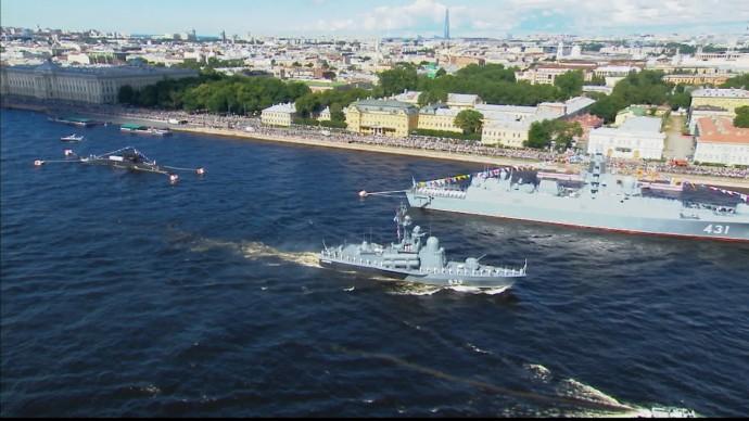324 года ВМФ России: лучшие моменты Главного военно-морского парада в Санкт-Петербурге