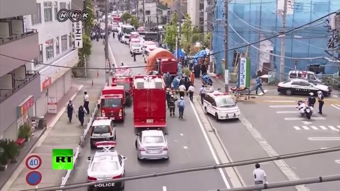 Видео из японского Кавасаки, где мужчина напал с ножами на группу школьников