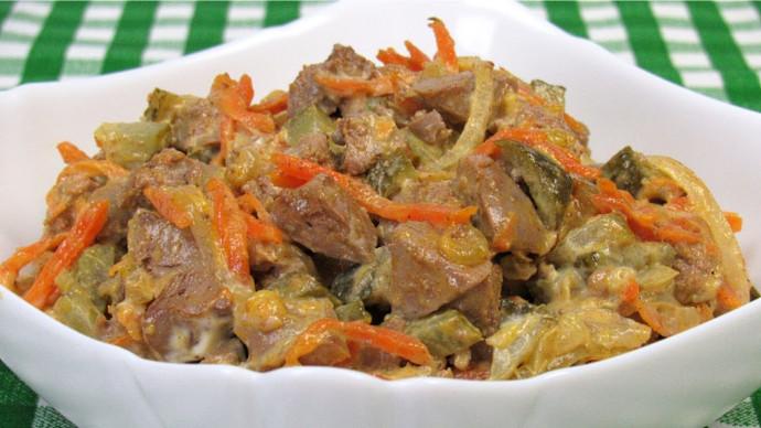 Действительно очень вкусный салат! Минимум ингредиентов, максимум вкуса ☆ Салат с куриной печенью