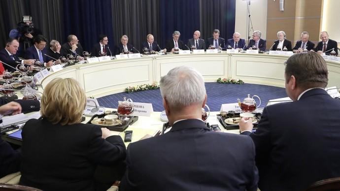 Владимир Путин провёл встречу с представителями деловых кругов Германии