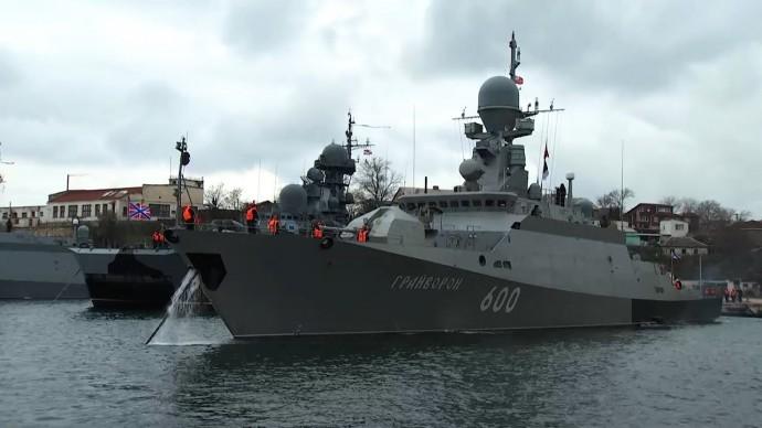 Контрольная проверка сил Черноморского флота в Севастополе — видео