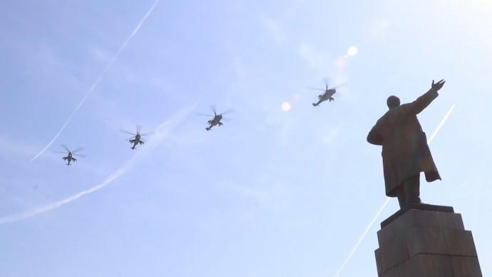 Генеральная репетиция пролёта авиации в честь Дня Победы